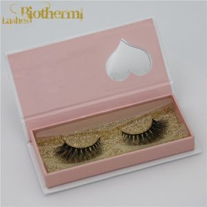 Natrual designs soft and fluffy own brand fake eyelashes 3D mink eye lashes private label magnetic box eyelashes