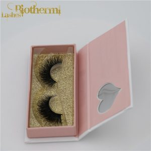 Factory wholesale customized mink lashes private label Real