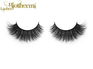 3D Multi layered fur mink lashes wholesale with clear brand and soft eyelashes
